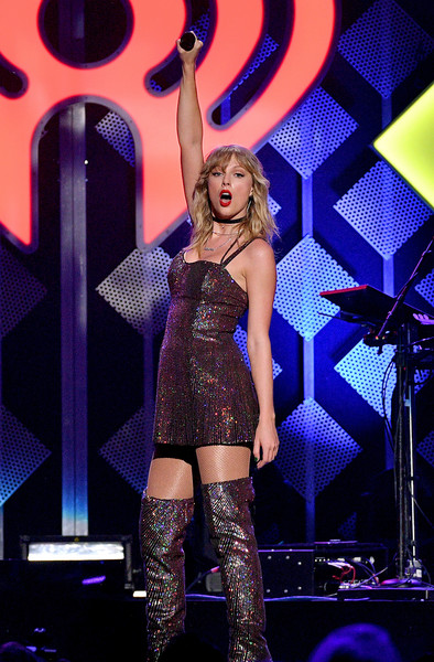 More Pics of Taylor Swift Over the Knee Boots (1 of 21) - Taylor Swift Lookbook - StyleBistro [iheartradio,capital one,taylor swift,performance,entertainment,thigh,performing arts,leg,music artist,event,public event,stage,singer,z100 jingle ball,new york city]
