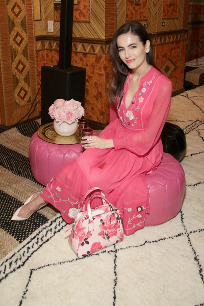 A floral bowler bag (also by Kate Spade) added an extra dose of feminine appeal.