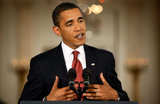 Barack Obama in Obama Holds First White House Press Conference