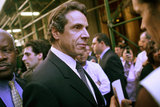 Andrew Cuomo in NY State Attorney Cuomo Holds News Conference On AIG