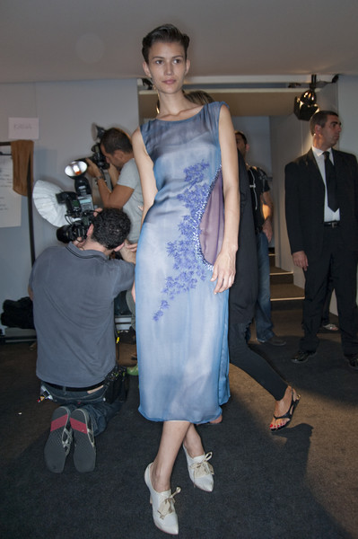 Alberta Ferretti at Milan Spring 2010 (Backstage)