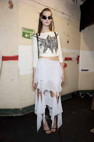 Ann-Sofie Back at London Fall 2010 (Backstage)