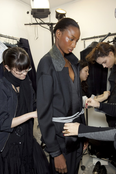 Anne Valérie Hash Fall 2010 - Backstage