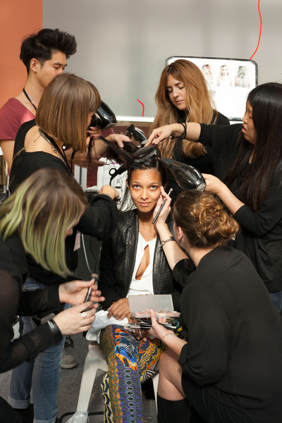Anne Valérie Hash at Paris Spring 2013 (Backstage)