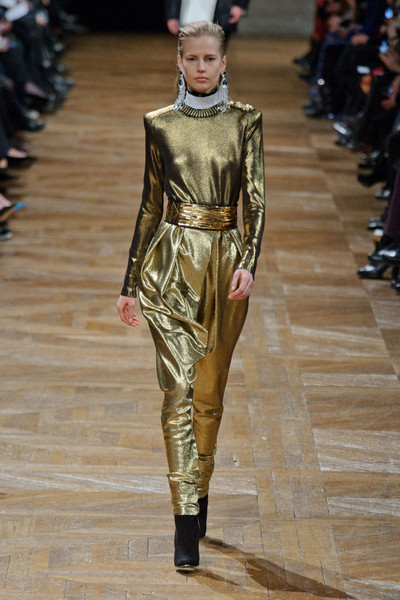 Balmain's Gold Lame' Jumpsuit