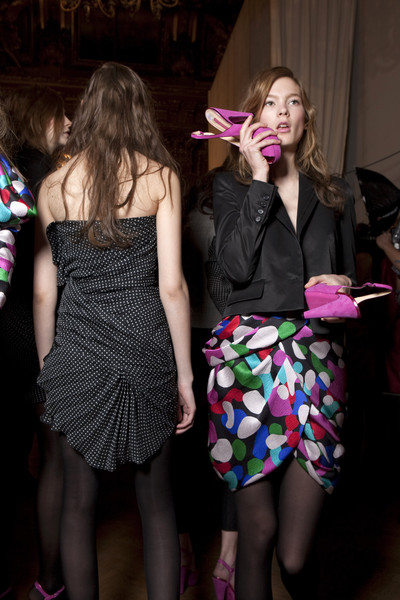 Emanuel Ungaro at Paris Fall 2010 (Backstage)