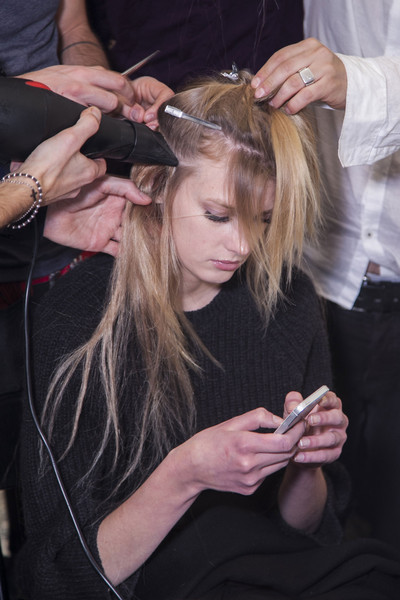 Emilio Pucci at Milan Fall 2013 (Backstage)