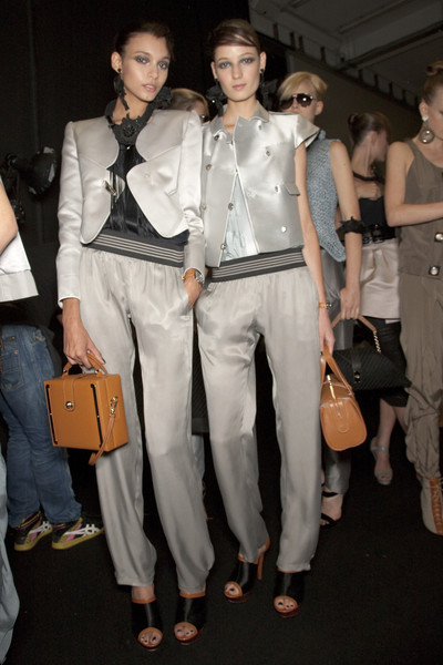 Emporio Armani at Milan Spring 2011 (Backstage)