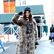 Alessandra Ambrosio's Long Fur Coat