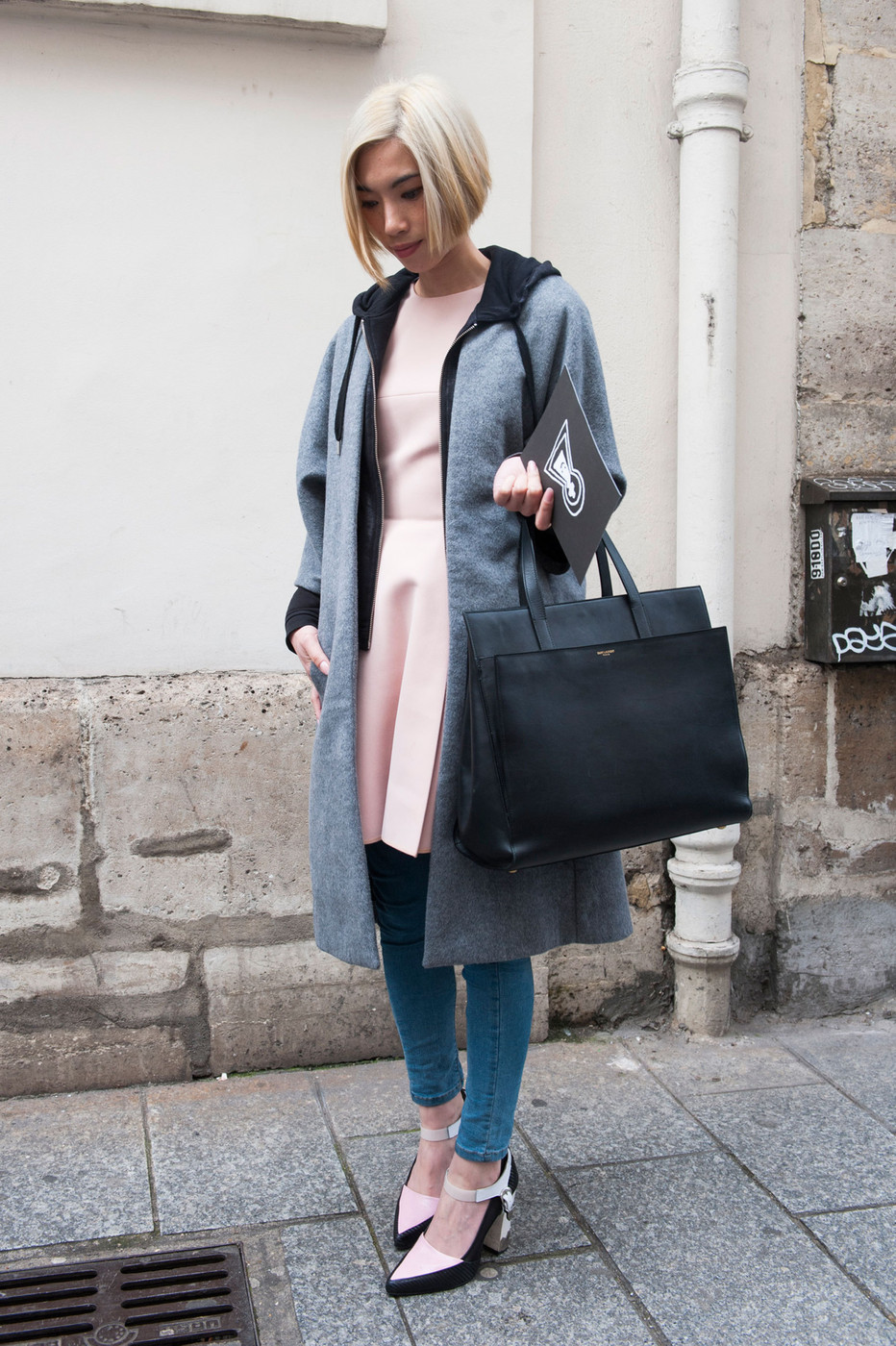 Hooded The Most Standout Street Style At Paris Fashion Week Fall 2014 Stylebistro