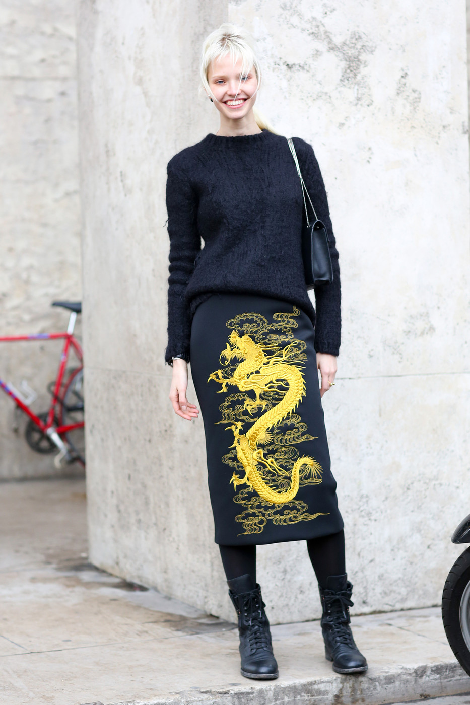Embroidered Beauty The Most Standout Street Style At Paris Fashion Week Fall 2014 Stylebistro