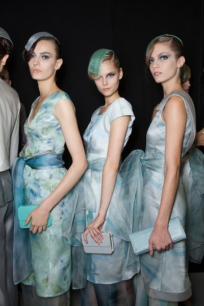 Giorgio Armani at Milan Spring 2013 (Backstage)
