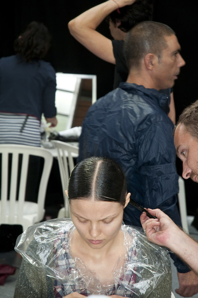 Givenchy at Couture Fall 2009 (Backstage)