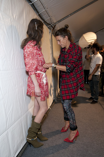 Isabel Marant at Paris Spring 2011 (Backstage)