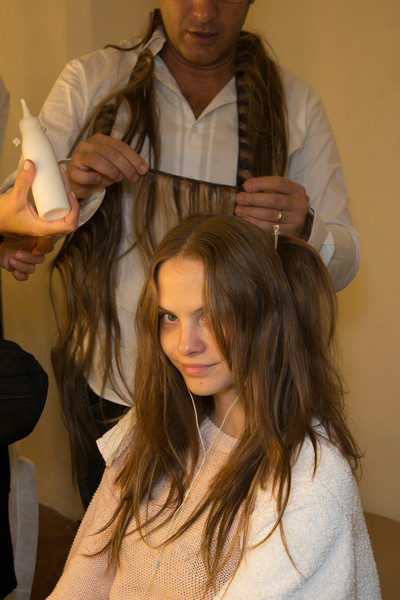 Luisa Beccaria at Milan Spring 2013 (Backstage)
