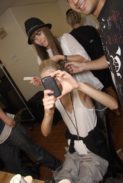 Malo at New York Spring 2008 (Backstage)