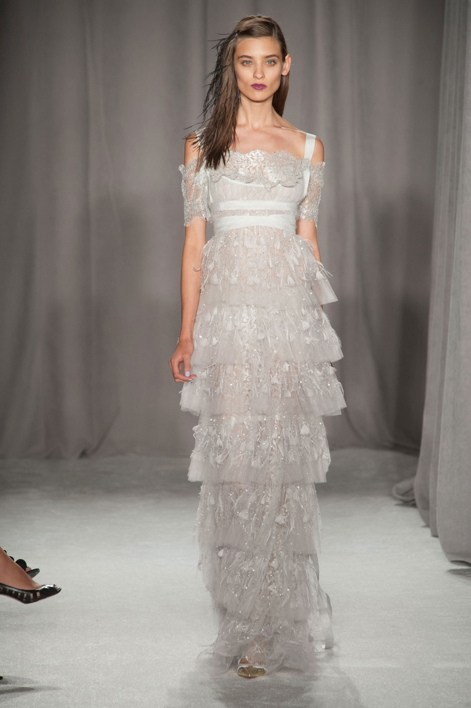Marchesa S Tiered Silver 20 Dream Wedding Dresses For
