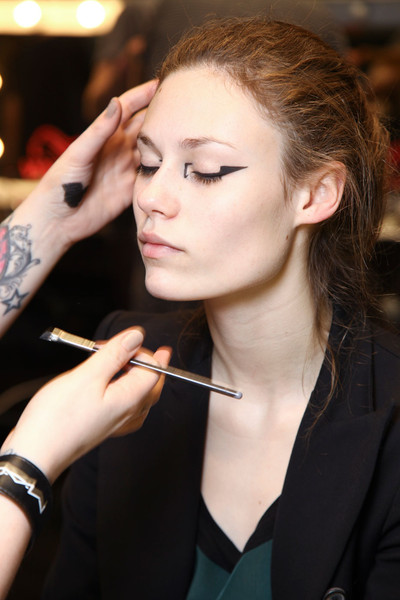Mary Katrantzou at London Fall 2012 (Backstage)
