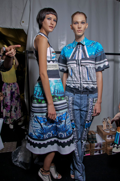 Mary Katrantzou Spring 2013 - Backstage