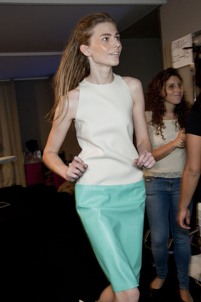 MaxMara at Milan Spring 2012 (Backstage)