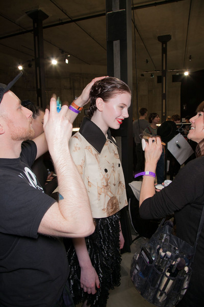 Meadham Kirchhoff Fall 2013 - Backstage