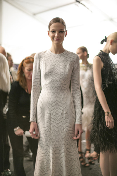 Monique Lhuillier Fall 2013 - Backstage