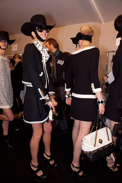 Moschino Fall 2012 - Backstage