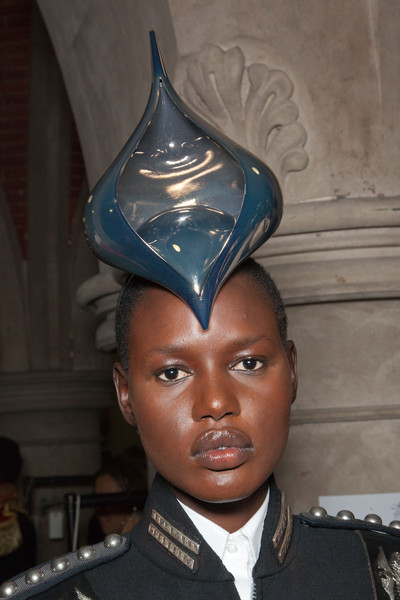 Philip Treacy Spring 2013 - Backstage