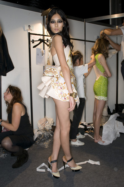 Roberto Cavalli at Milan Spring 2009 (Backstage)