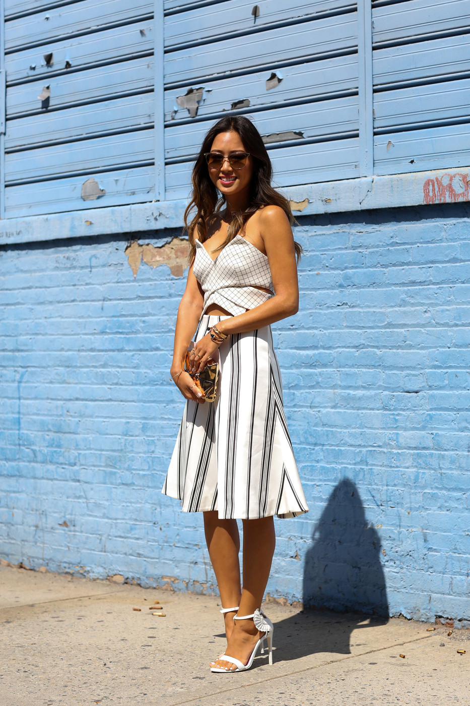 Nautical Notions Best Street Style From New York Fashion