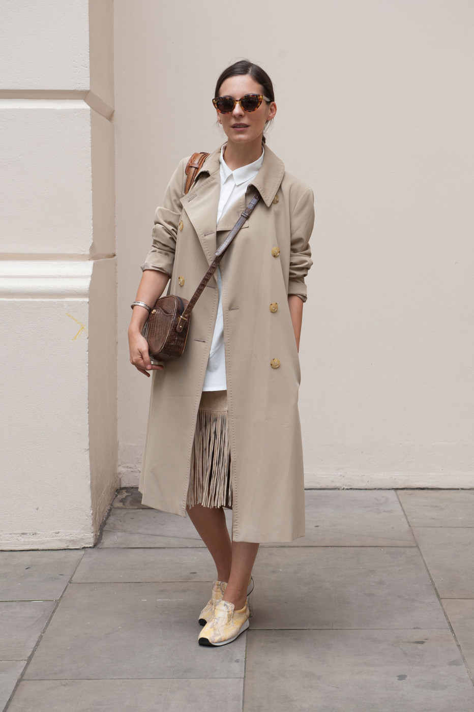 Trenched Best Street Style At London Fashion Week Spring 2015 Stylebistro