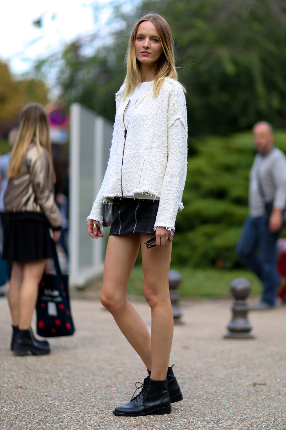 Zipped Up Best Street Style From Paris Fashion Week Spring 2015 Stylebistro