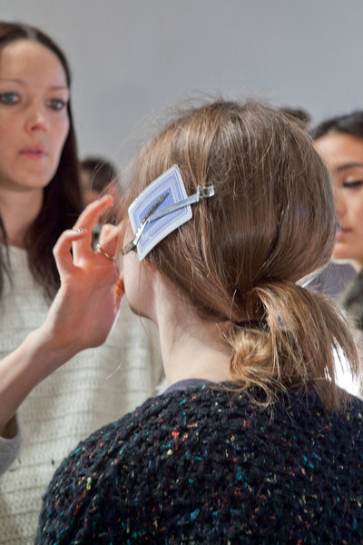 Tess Giberson at New York Fall 2012 (Backstage)