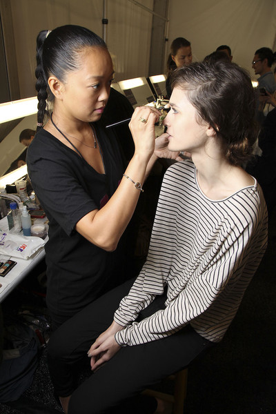 Vivienne Tam at New York Spring 2012 (Backstage)