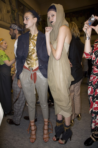 Vivienne Westwood at Paris Spring 2009 (Backstage)