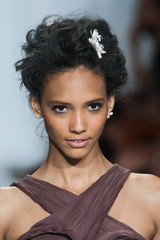 Flower-Accented Updos at Zac Posen