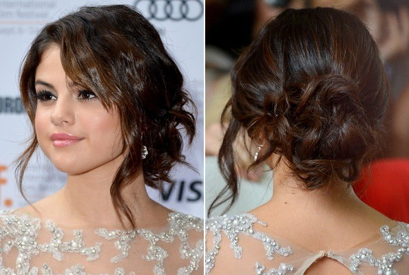 ... Wavy, Loose Bun - The Prettiest Celeb-Inspired Prom Hairstyles