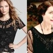 Elizabeth McGovern's Beaded Black Sheer Number on 'Downton Abbey'