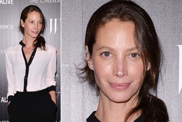 Christy Turlington's Simple Black and White Look
