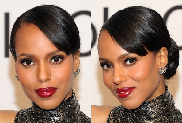 Kerry Washington's Sleek, Classic Bun