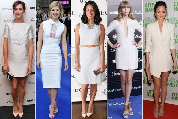 Celebs Heart the Little White Dress