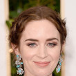 Emily Blunt's Braided Updo and Lavender Lids