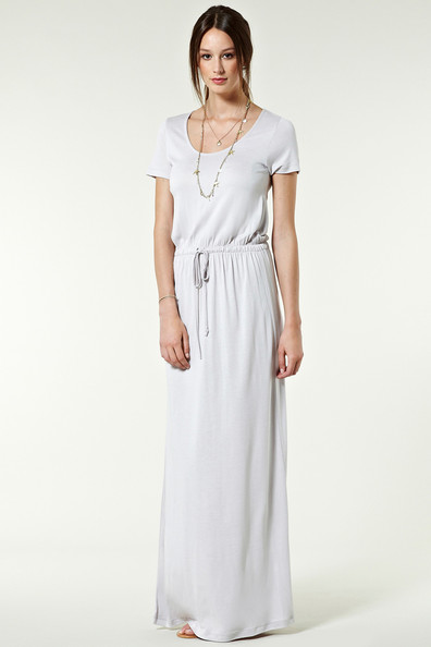 Little White T-Shirt Maxi Dress