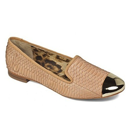 Sam Edelman Snakeskin Embossed Loafers
