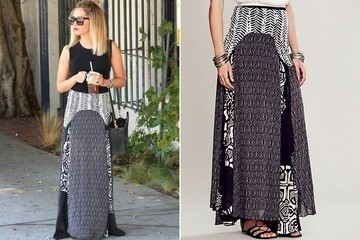 Found: Ashley Tisdale's Patchwork Maxi Skirt