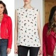 Lucy Hale's Red Leather Moto Jacket and Insect-Print Tank Top on 'Pretty Little Liars'
