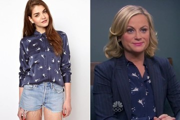 Amy Poehler's Eiffel Tower Print Shirt on 'Parks and Recreation'