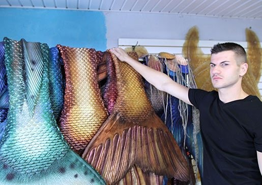 Aspiring Merman Makes Custom Tails