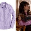 Zooey Deschanel's Purple Gingham Shirt on 'New Girl'