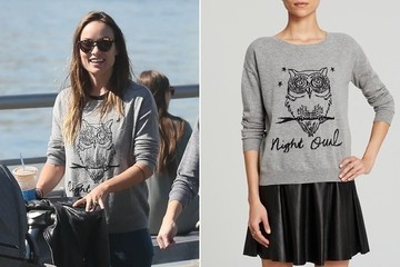 Found: Olivia Wilde's Adorable Sweatshirt